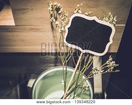 Vintage signage Garden decoration name plate frame