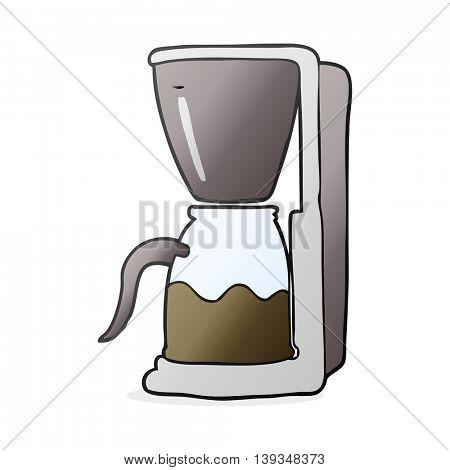 freehand drawn cartoon coffee maker