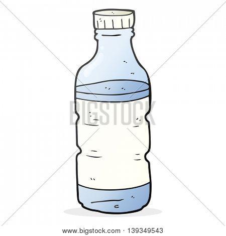 freehand drawn cartoon water bottle