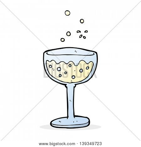 cartoon sparkling wine