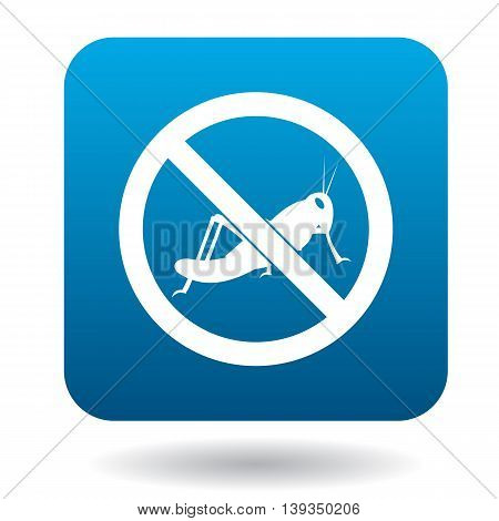 No locust sign icon in simple style on a white background