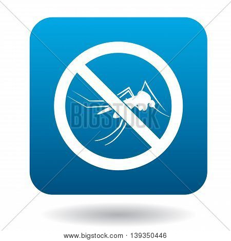 No mosquito sign icon in simple style on a white background