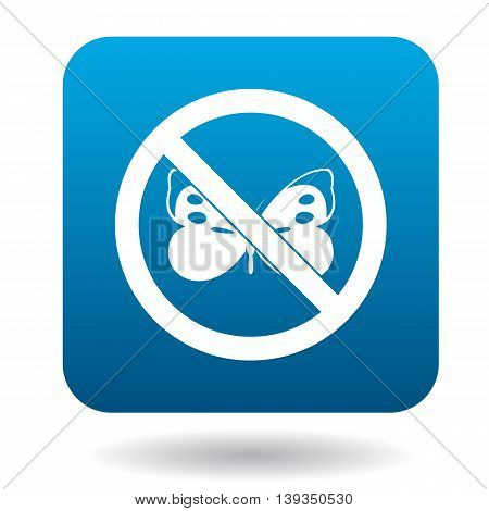 No butterfly icon in simple style on a white background