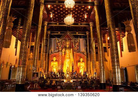 The Interior Of The Temple. Chiangmai. Thailand