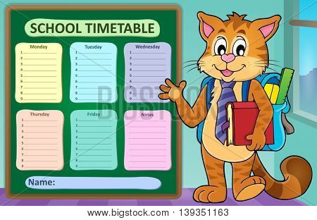 Weekly school timetable concept 1 - eps10 vector illustration.
