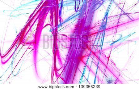 Beautiful neon light background. Fractal art pattern for wallpaper interior album flyer cover poster booklet