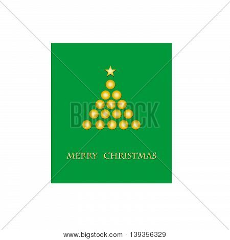 Merry Christmas green background for your text