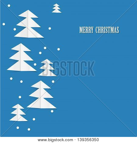 Christmas tree out of paper backgroun for your text