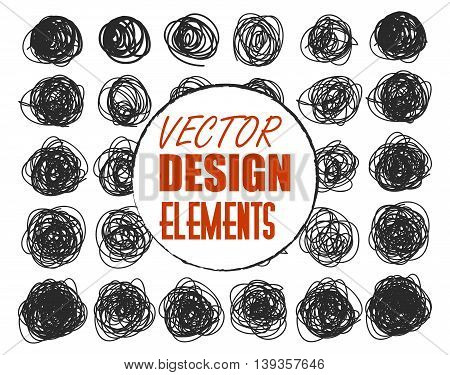 vector grunge dots for design with signature on two layers. Isolated eps 10.