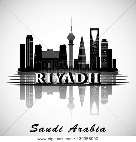 Modern Riyadh City Skyline Design. Saudi Arabia