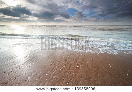 beautiful North sea coast in the Netherlands