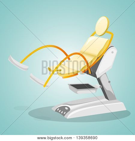 Gynecological chair for women's surveys. Gynecology and concern for women's health. Vector illustration.