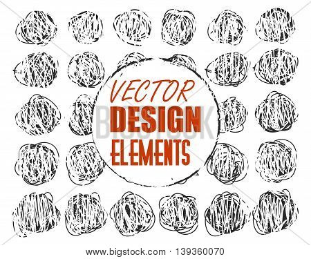 vector grunge scratch dots for design with signature on two layers. Isolated eps 10.