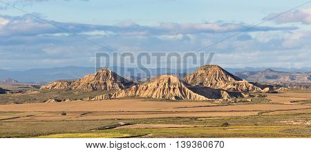 Bardenas Reales Natural Park in Navarra, Spain