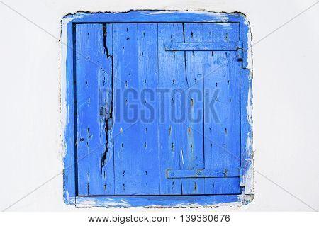 Wooden window shutter in Zakynthos island Greece