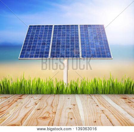 Eco power, Power plant using renewable solar cell energy