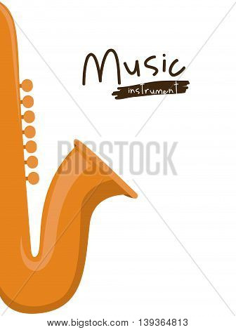 saxophone instrument isolated icon design, vector illustration  graphic