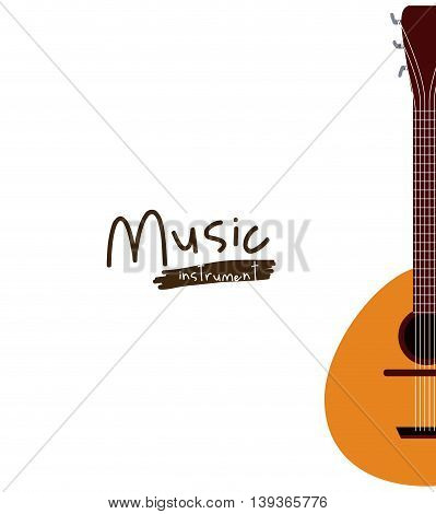 guitar instrument isolated icon design, vector illustration  graphic