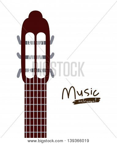 handle acoustic guitar isolated icon design, vector illustration  graphic