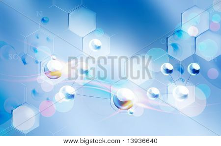 Molecules background, eps10