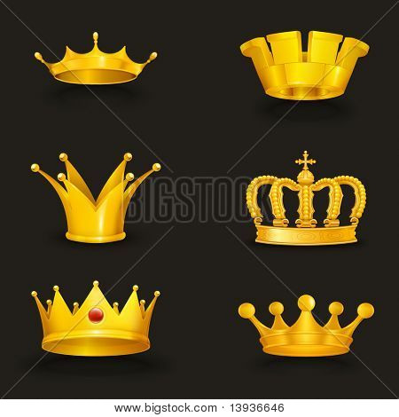 Crown set, eps10