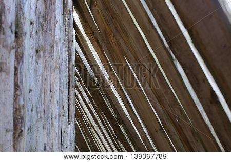 Composition of wooden planks usable as background.
