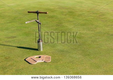 Golf putting green maintenance new hole placement cutter  tools