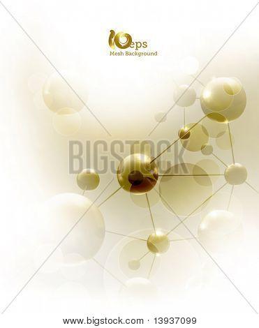Futuristisch Hintergrund mit Molekülen, eps10