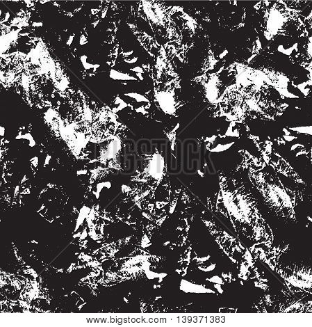 Vector ink grunge texture seamless pattern. Messy ink dry imprint background. Black and white artistic print. Great for decor wrapping paper wallpaper