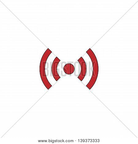 Flat Wi-Fi. Red flat simple modern illustration icon with stroke. Collection concept vector pictogram for infographic project and logo
