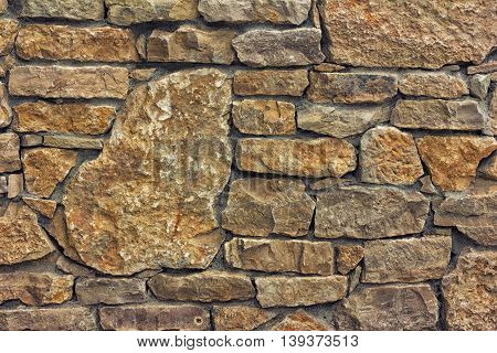 background texture of wall made of stone tinted photo