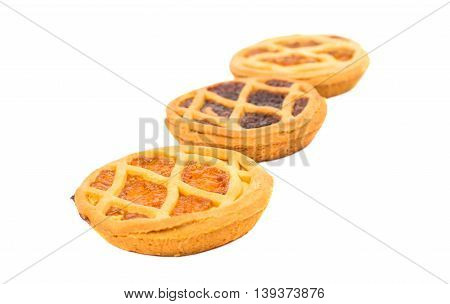 cookie pie filling isolated on white background