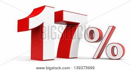 Discount 17 percent off sale. 3D illustration.