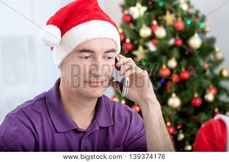 Online internet shopping christmastime holiday, christmas concept