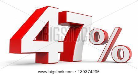 Discount 47 percent off sale. 3D illustration.