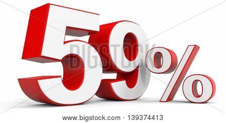 Discount 59 percent off sale. 3D illustration.
