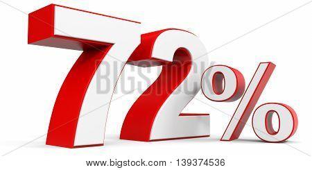 Discount 72 percent off sale. 3D illustration.