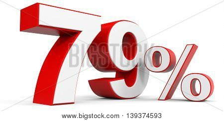 Discount 79 percent off sale. 3D illustration.