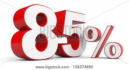 Discount 85 percent off sale. 3D illustration.