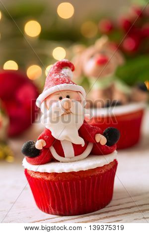 Beautiful Santa Claus Cupcake
