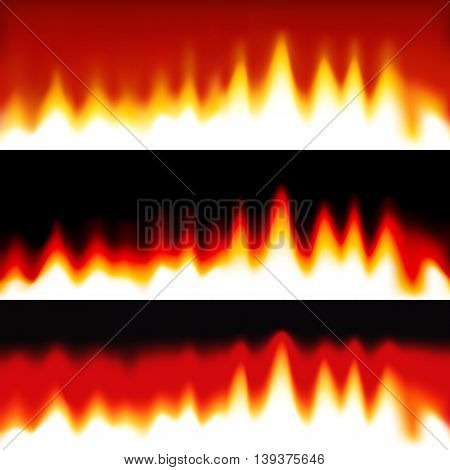 Fire abstract horizontal banners. Vector abstract wallpaper