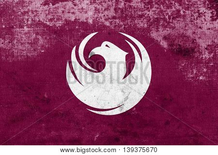 Flag Of Phoenix, Arizona, Usa, With A Vintage And Old Look