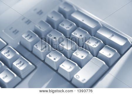 Keyboard Buttons Blue Tone