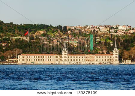 City view from the sea. Istanbul. Travel Turkey. Building on a background of cityscape