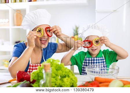 Funny Cute Family Playing With Food