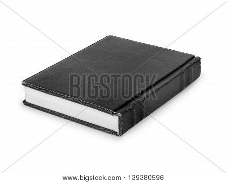 old black book on a white background