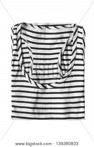 Folded striped sailor shirt isolated over white