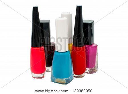 accessory nail polish isolated on white background