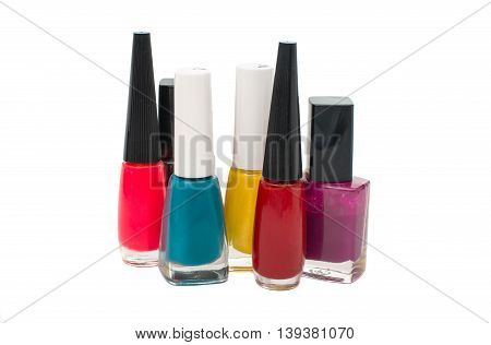 accessory nail polish isolated on white background