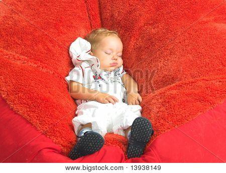 The baby is still a sleep